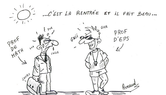 "Les dessins d'Arnaud : ""La rentrée"""